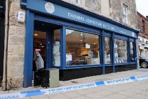 Thomas Johnston Butchers in Falkirk was one of several businesses across the district which was broken into earlier this week. Picture: Michael Gillen