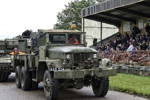 There was great enthusiasm for the military vehicles