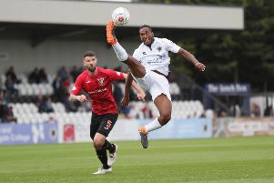 Durnan played in last year's Irn-Bru Cup match between the Pars and Borehamwood. Photo by Alex Morton/Getty Images