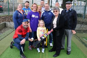 Westquarter and Redding Cricket Club members have joined forces with Alzheimer Scotland to run monthly activities. (Pic: Michael Gillen)