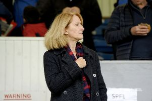 Former Falkirk chairman Margaret Lang's spell as company secretary ended last week. Picture: Michael Gillen.