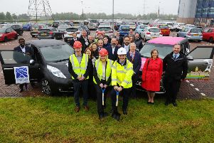 Falkirk Council leader Cecil Meiklejohn pictured at the site with Cllr Paul Garner, environment spokesman (centre), and MSP Michael Matheson. Pictures: Michael Gillen