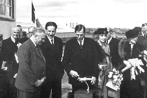 Air Marshall Viscount Trenchard declares Grangemouth Aerodrome open for business