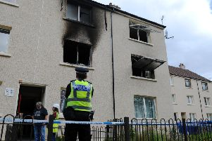 The scene of the fire in David's Loan in which a man tragically died early this morning.