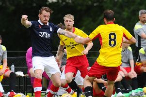 Michael Doyle in action for Falkirk against Partick Thistle (picture: Michael Gillen)