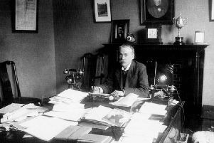 Fred Johnston in his office