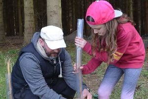 The 3rd Bo'ness Scout Group were involved in this tree planting exercise on the Kinneil Estate last year.