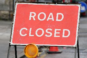 The road will be closed for resurfacing work.