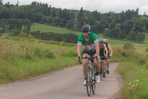 Lee York of Laurencekirk leading the way