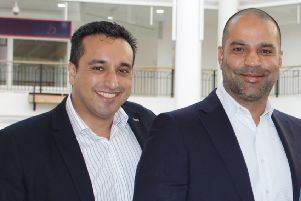 Karim and Rahim Virani, of Cygnet Properties and Leisure plc, would like to entice businesses into setting up a food department store in Callendar Square Shopping Centre