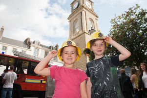 Alice and Aiden Moran enjoyed last year's event on the High Street.  Pic: Jamie Forbes.
