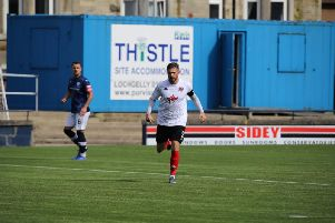 David Goodwillie's goal set Clyde on their way to victory over Motherwell Colts (pic: Craig Black Photography)