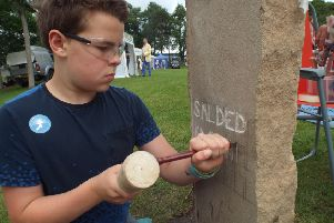 Archaeology Scotland hope the stone carving will be as popular in Falkirk as it was at the Royal Highland Show.