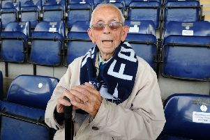 David Dalgleish (97) 'Falkirk's oldest season ticket holder', heading into his 92nd year watching the Bairns.