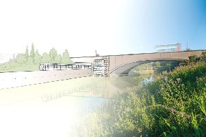 An artist's impression of the rail line.