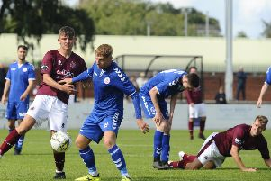 Pic by Alan Murray; 17/08/2019; Linlithgow Rose v Camelon; Linlithgow; Prestonfield, EH49 6HF; Falkirk District; Scotland;
