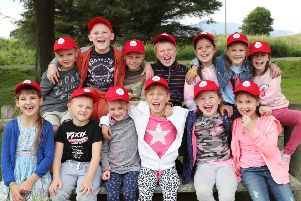 Angelic smiles...the children from Belarus brought to Clydesdale by the Chernobyl's Angels of Hope charity to spend a month enjoying clean air, safe food and new experiences.