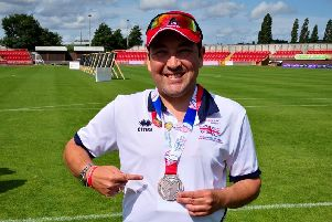 Martin Strang Archer bronze medal in archery pairs at World Transplant Games