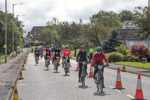 Pedal for Scotland passing through Maddiston. Picture by Jamie Forbes.