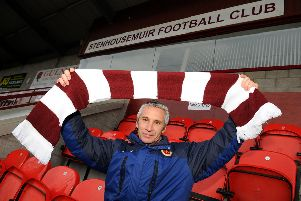 Davie Irons first arrived at Stenhousemuir in January 2011. Picture: Michael Gillen