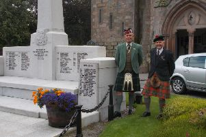 John Forsyth and Hugh Inkster pictured at the award-winning memorial