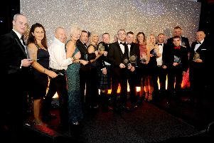The winners from last year's Falkirk Herald Business Awards. Pic: Michael Gillen.
