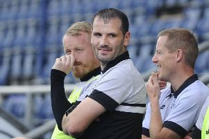 Pic by Alan Murray; 03/08/2019; East Stirlingshire FC v Gretna 08; Falkirk; Falkirk Stadium; Falkirk District; Scotland; ''Lowland League