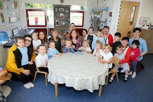 Children's Minister Maree Todd visits Bowhouse ELC. Picture: Michael Gillen