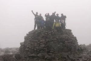 Victory - even if the view from the cairn is a bit murky.