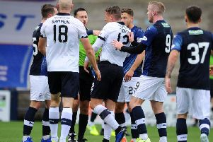 Action from Raith Rovers v Falkirk (picture: Michael Gillen)