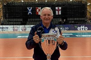 John Swan was team manager as Scotland Men's Volleyball team won the European Small Countries Nations Volleyball tournament. John is  from Bainsford and works for Falkirk Council.