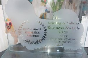 A special trophy commissioned from A & G Glass.