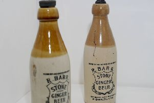 These authentic Falkirk Iron Brew bottles were selected by archaeologist Geoff Bailey for his special exhibition featuring a collection of objects that tell the story of Falkirk.