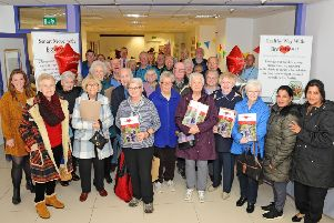 Shoppers turned out for the Braveheart Connections launch event. Picture: Michael Gillen