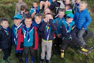 9th Dunipace Scout Group Beavers pictured during their visit to Barrwood.