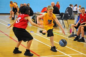 Action from the Junior NBA. Pictures: Michael Gillen