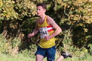 Donald Gilchrist had Law AAC boys fastest run of the day in Cumbernauld (Pic by Bobby Gavin)