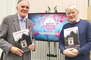 Author Ian Scott (right) is pictured at the book's launch with former Provost Pat Reid from the Friends of Falkirk War Memorial.