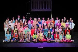 Falkirk Youth Theatre production of Legally Blonde at Falkirk Town Hall. Picture by Michael Gillen.