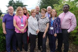 New home...in Airth for NHS Forth Valley's Dementia Outreach Team, including nursing and social work staff and a representative from Alzheimer Scotland.