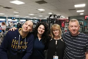 Veterans David Martin and James McEwan, with East Renfrewshire Culture and Leisure's Live Active Physical Activity and Health Advisor Stephanie Elliot and Active Health and Wellbeing Development Manager Carolynne McKendry.
