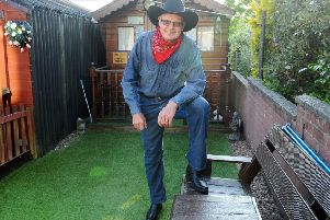 BA Cowboy Ian Gardiner is to appear on BBC Scotland to discuss how he and a group of colleagues became Western movie stars in Falkirk in the 1970s. Picture: Michael Gillen
