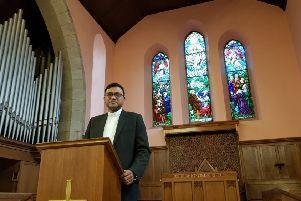 Raheel Arif is being inducted into Denny Old Parish Church after he escaped the clutches of Islamic extremists in Pakistan