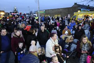 Crowds gathered for the 2018 light switch on.  Pic: Alan Murray.