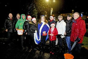 Bonnybridge Gala Committe with Provost Billy Buchanan and Gala Queen Stephanie Cameron at the first event in 2018.