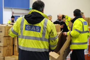 SGN with a multi-agency response including Police Scotland, Scottish Fire and Rescue, Falkirk Council and third sector volunteers are distributing twin electric cooker hobs and electric heaters to the most vulnerable in the affected areas. Picture: Michael Gillen