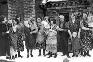 Standburn folk, pictured in 1936.