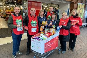 Shoppers in Falkirk district donated more than 19,000 food parcels to food banks via the Tesco Food Collection initiative