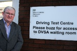 Falkirk East MSP Angus MacDonald fears the DVLA driving test centre in Grangemouth's Earls Road could soon be closing down