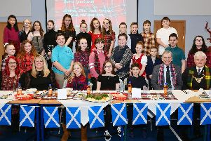 Burns Supper at Antonine Primary School, Bonnybridge. Picture by Michael Gillen.